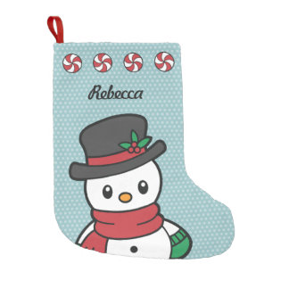 Cute Snow Pals christmas stocking