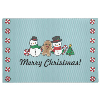 Cute Snow Pals doormat