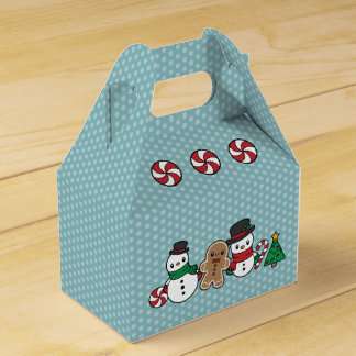 Cute Snow Pals favor box