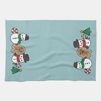 Cute Snow Pals kitchen towel