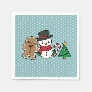 Cute Snow Pals paper napkins