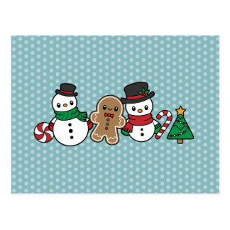Cute Snow Pals postcard