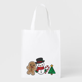 Cute Snow Pals reusable bag