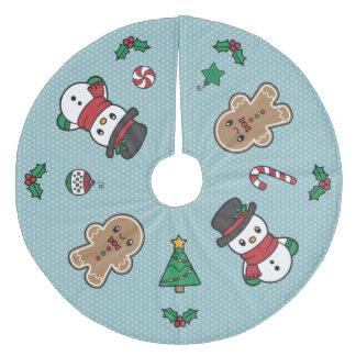 Cute Snow Pals tree skirt