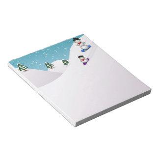 Cute Snowboarding Snowmen - Notepad