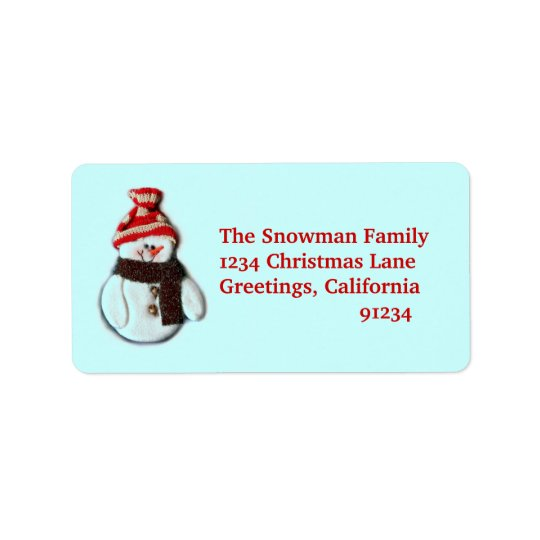 Cute Snowman Address Labels