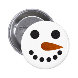 Cute Snowman Button Pin for Winter Holidays