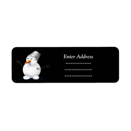 cute snowman Christmas  address label Sticker
