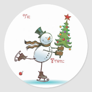 Cute Snowman Christmas Gift tags