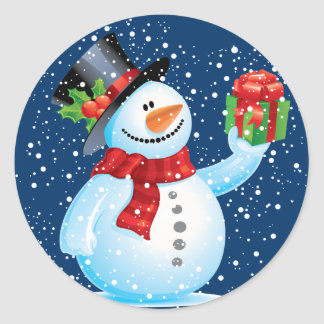 Cute Snowman Christmas stickers