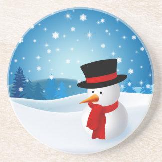 Cute Snowman Coaster
