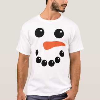 Cute Snowman Face T-Shirt