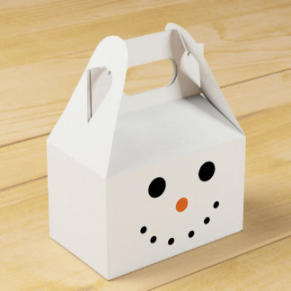 Cute Snowman Favor Box
