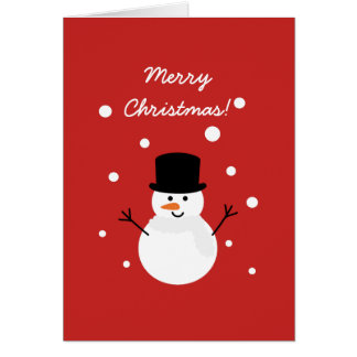 Cute Snowman Festive Holiday Snow Merry Christmas Card