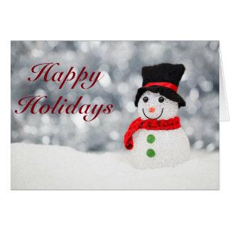 Cute Snowman Happy Holidays Card