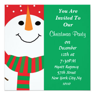 Cute Snowman Holiday PARTY Invitation All Occasion