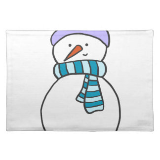 CUTE SNOWMAN / HOLIDAY PLACEMAT
