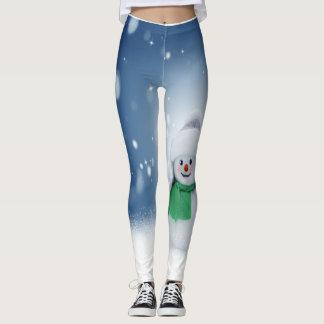 Cute Snowman Leggings