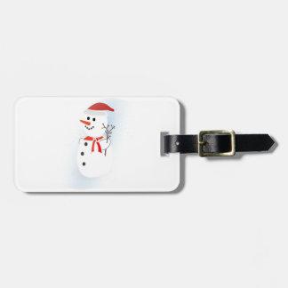 Cute Snowman Luggage Tag