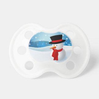 Cute Snowman Pacifiers