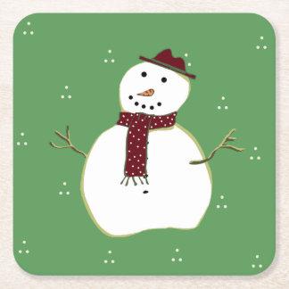 Cute Snowman Paper Coasters