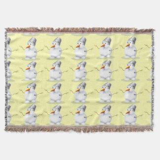 Cute Snowman Pattern Throw Blanket