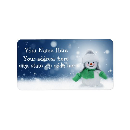 Cute Snowman Personalized Address Labels