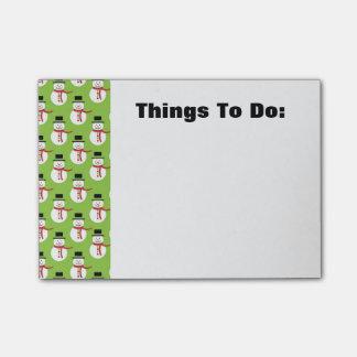 Cute Snowman Post-it Notes