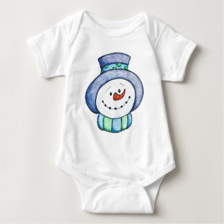 Cute Snowman Ready for Winter Baby Bodysuit