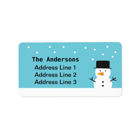 Cute Snowman Winter Holiday Label
