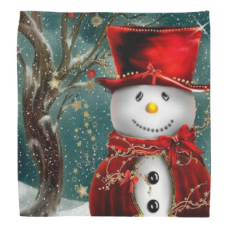 Cute snowmans - snowman illustration bandana
