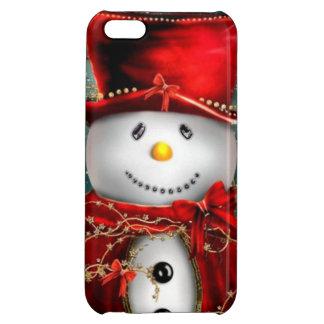 Cute snowmans - snowman illustration case for iPhone 5C