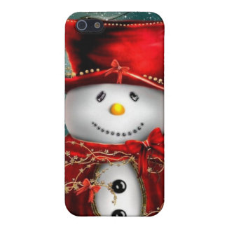Cute snowmans - snowman illustration case for the iPhone 5