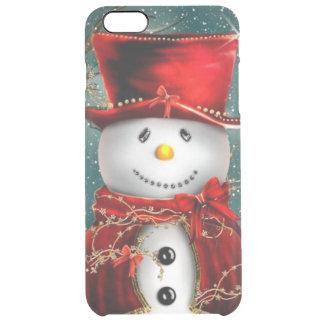 Cute snowmans - snowman illustration clear iPhone 6 plus case