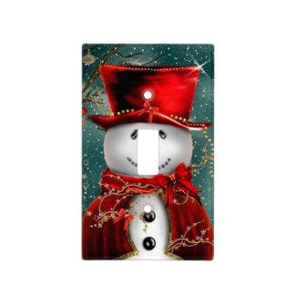 Cute snowmans - snowman illustration light switch cover