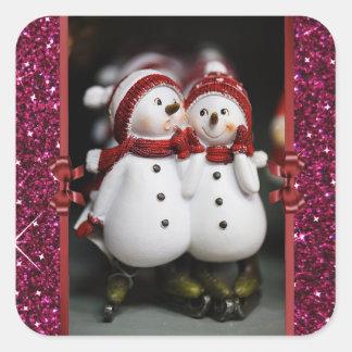 Cute Snowmen Christmas Sticker