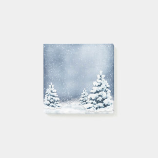 Cute Snowy Pine Trees Post-it® Notes