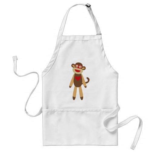 Cute Sock Monkey Aprons
