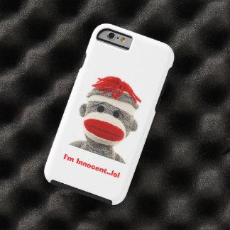 CUTE Sock Monkey  I Phone 5 case Tough iPhone 6 Case