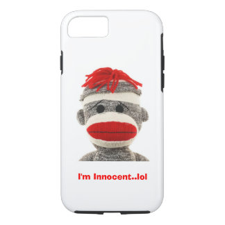 CUTE Sock Monkey  I Phone 5 case