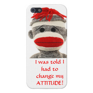 CUTE SOCK MONKEY iPhone  5 cover iPhone 5/5S Cover