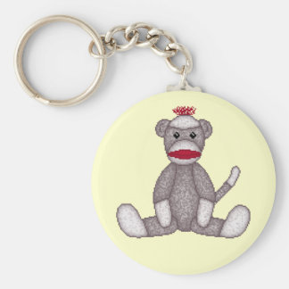 Cute Sock Monkey Key Chain