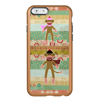 Cute Sock Monkey on Cloth Pattern Incipio Feather® Shine iPhone 6 Case