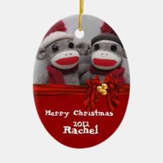 CUTE Sock Monkey Ornament BFF