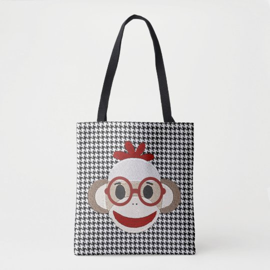 """Cute Sock Monkey"" TOTE"