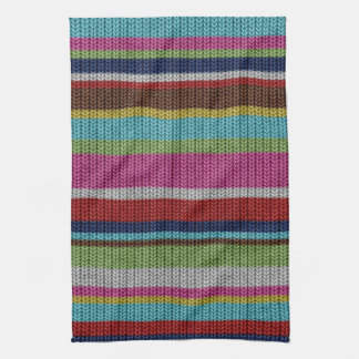 Cute soft trendy knitted wool effects warm winter kitchen towel