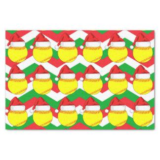 Cute Softball Santa Hat Christmas Tissue Paper