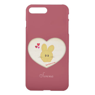 Cute Some Bunny to Love Heart Motif iPhone 7 Plus Case