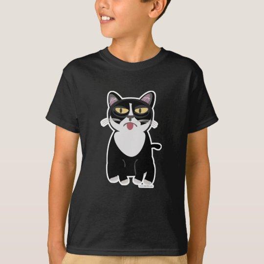 Cute Sourpuss Cartoon Cat T-Shirt