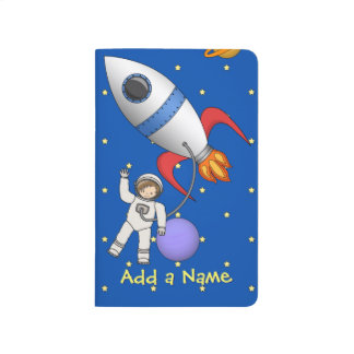 Cute Space Walk Astronaut and Rocketship Journal
